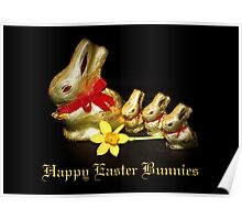 Chocolate Easter Bunnies Poster