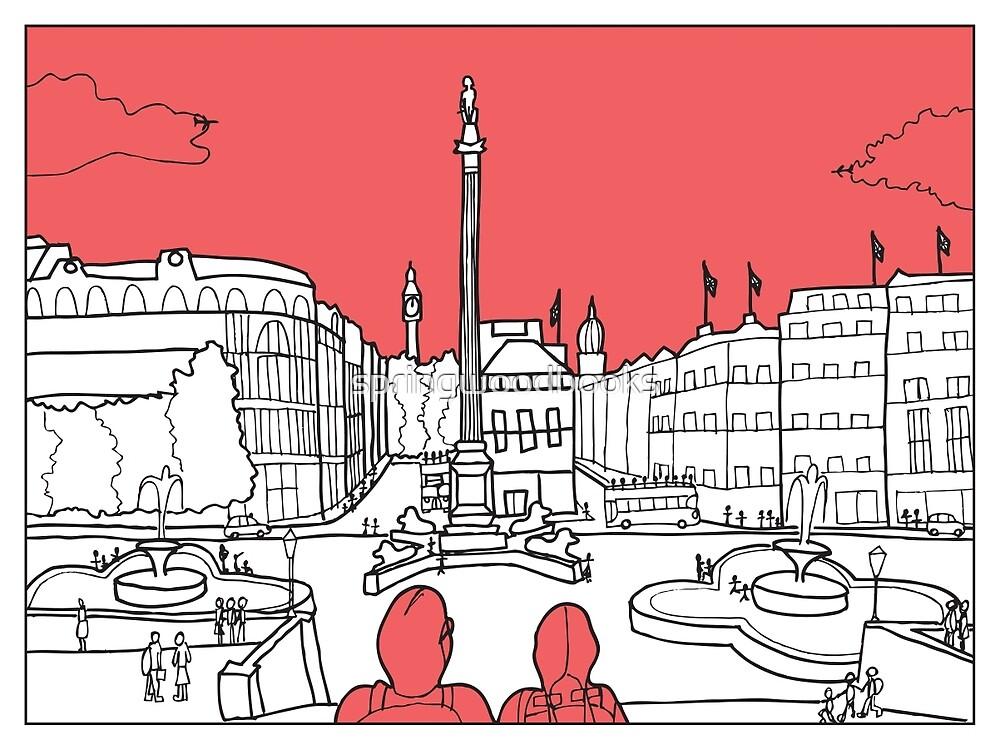 Sketches of London 'Trafalgar Square' by springwoodbooks