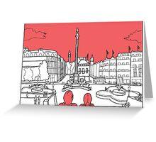 Sketches of London 'Trafalgar Square' Greeting Card
