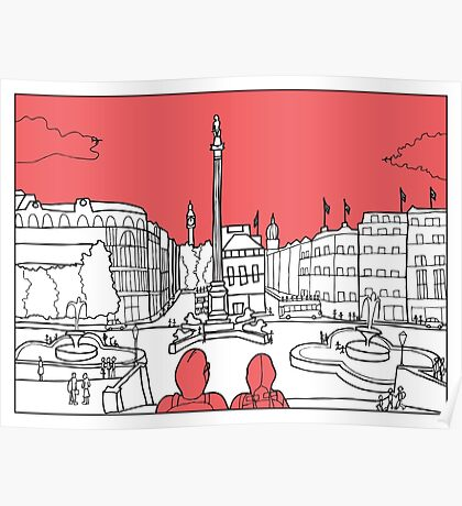 Sketches of London 'Trafalgar Square' Poster