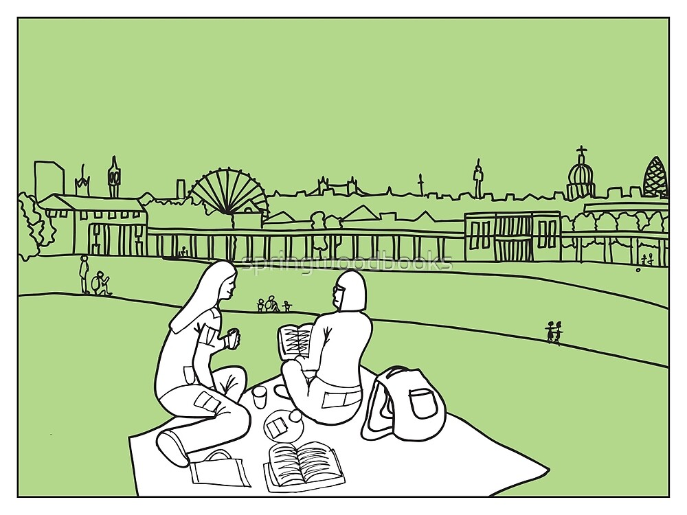 Sketches of London 'Greenwich Park' by springwoodbooks