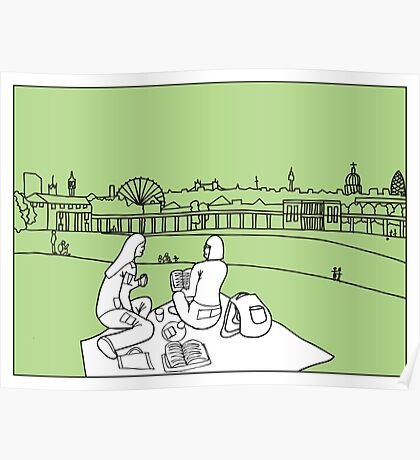 Sketches of London 'Greenwich Park' Poster