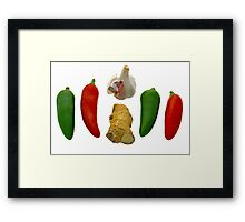 Chillies Garlic and Ginger Framed Print