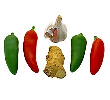 Chillies Garlic and Ginger Photographic Print