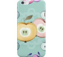 Apple seamless pattern fruits texture iPhone Case/Skin