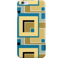 Abstract modern squares seamless pattern retro colors iPhone Case/Skin