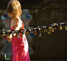 Girl and the Love Locks by AmyRalston