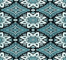 Teal Blue Design Pattern, Bandanna, Surfer by fengshuibabe