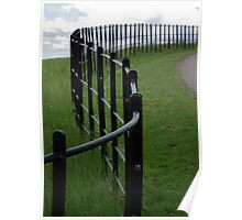 Winding Fence Poster
