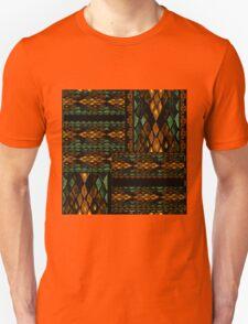 Patchwork seamless snake skin pattern T-Shirt
