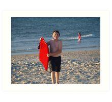 semaphore beach Art Print
