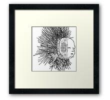 The Matrix head Framed Print