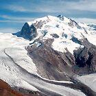 Glaciers above Zermatt, Switzerland. by Peter Stephenson