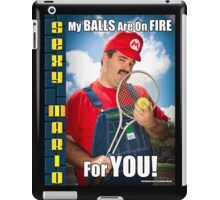 SexyMario MEME - My Balls Are On Fire For You 4 iPad Case/Skin
