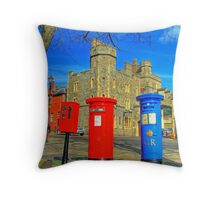 Post Box Corner - Windsor Throw Pillow