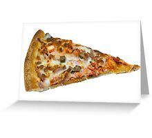 Meat Feast Pizza Slice Greeting Card