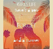 Tropical Beach Theme summer love by Vinchenko