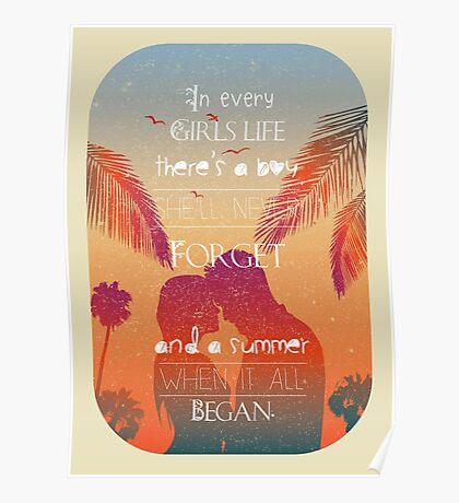 Tropical Beach Theme summer love Poster