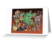 dancing geckos Greeting Card