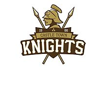Castle Town Knights Photographic Print