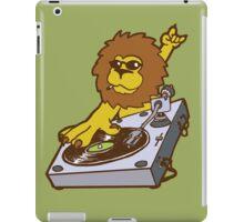 lion dj dub style cartoon iPad Case/Skin