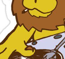 lion dj dub style cartoon Sticker