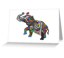 Elephant Zentangle Greeting Card