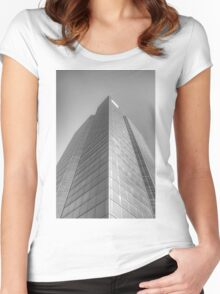 Silver Women's Fitted Scoop T-Shirt