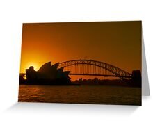 Sydney By Sunset Greeting Card
