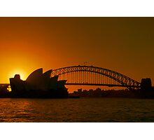 Sydney By Sunset Photographic Print