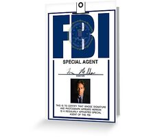 Fox Mulder ID Badge  Greeting Card