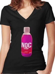 NOC SYRUP Women's Fitted V-Neck T-Shirt