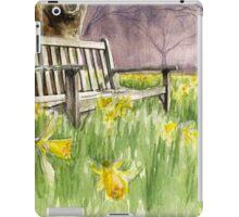 Bench in daffodils  iPad Case/Skin