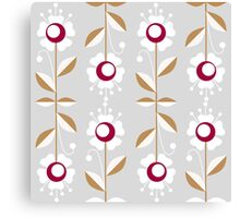 Ornate seamless pattern with leaves and flowers Canvas Print