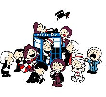 Doctor Who All Doctors comic Photographic Print