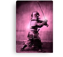 Samurai with sword Canvas Print
