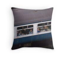 The Joys Of Travel By Train. Throw Pillow