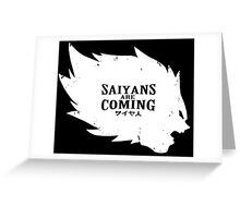 Saiyans Are Coming Greeting Card