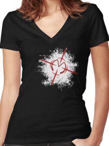 Matrix Targeting  Women's Fitted V-Neck T-Shirt
