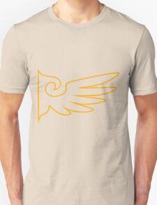 Golden One Winged Eagle [Envelope Design] Unisex T-Shirt