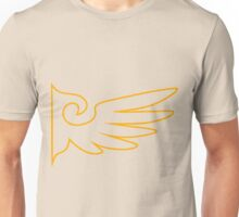 Golden One Winged Eagle [Envelope Design] Unisex T-Shirt