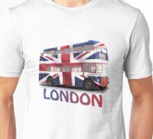 London Bus and Union Jack Unisex T-Shirt