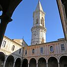 Main cloister & bell tower of San Pietro, Centro Storico, Perugia, Italy by Philip Mitchell