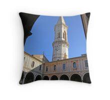 Main cloister & bell tower of San Pietro, Centro Storico, Perugia, Italy Throw Pillow