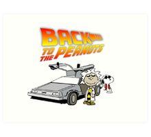 Back to the Future Peanuts Art Print