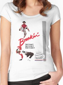 Breakin' Retro  Women's Fitted Scoop T-Shirt