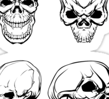 Different Skulls Sticker