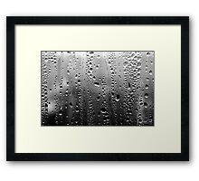 Mono-Rain Framed Print