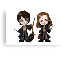 harry potter and hermione kids Canvas Print