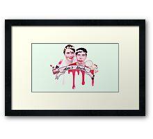 Dan & Phil Blindfold Make-up Challenge Print Framed Print